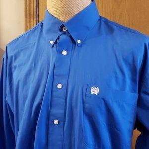 Cinch blue nwot long sleeve button down ranch